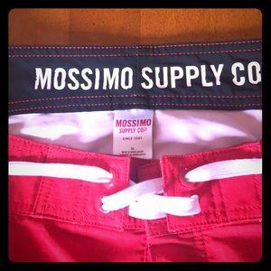 Mossimo Men's Board Shorts Sz 34 wht/red/navy